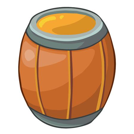 fermenting: wooden barrel isolated illustration on white background Illustration