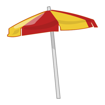 Beach umbrella isolated illustration on white background Ilustrace