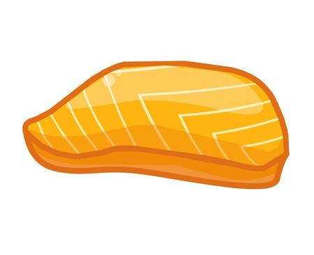fish steak: Fish steak isolated illustration on white background