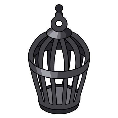 Bird cage isolated illustration on white background