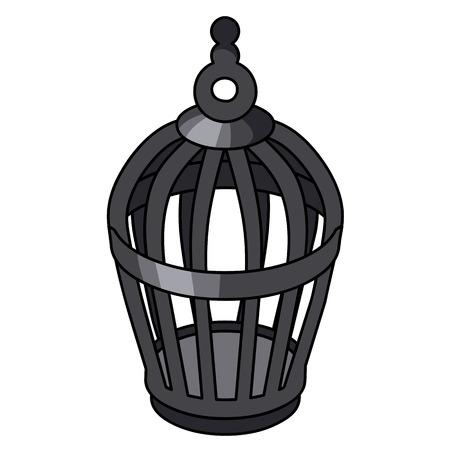 Cage à oiseaux illustration isolé sur fond blanc Banque d'images - 34484374