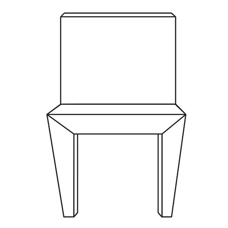 sketch line drawing of chair isolated illustration on white background vector
