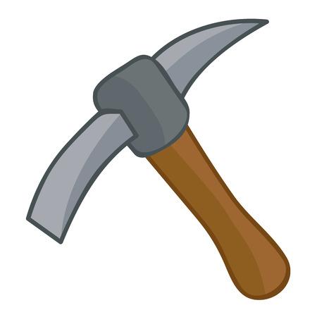 pick axe: pick axe isolated illustration on white background