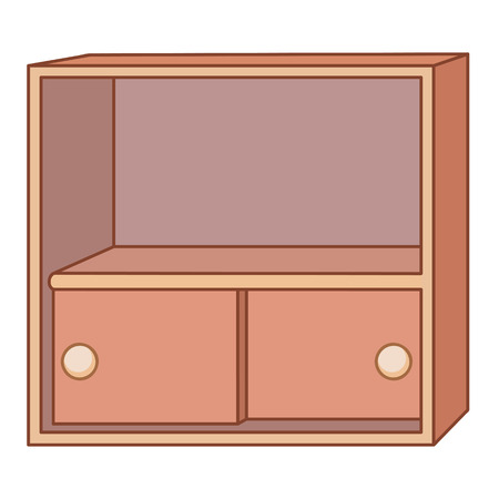 cabinet isolated illustration on white background Vector