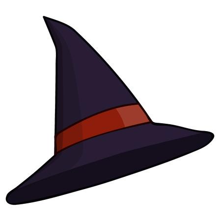 bruja: Aislado Ilustraci�n sombrero de la bruja en el fondo blanco Vectores