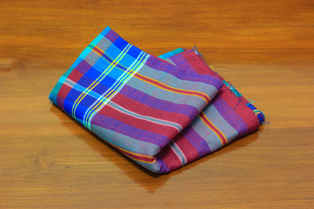 loincloth: thai fabric on wooden floor