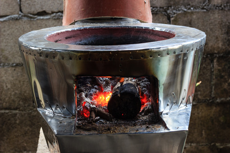 brazier: brazier stove flame