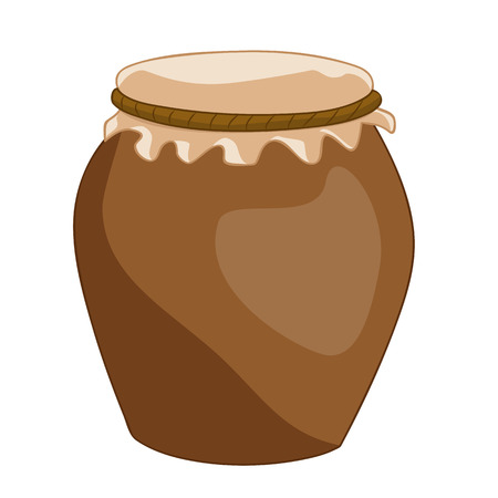 Clay pot isolated illustration on white background Vector