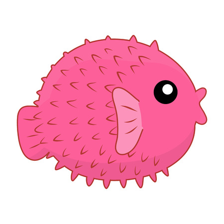 blowfish: puffer fish isolated illustration on white background Illustration