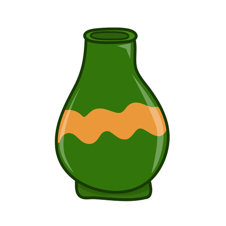 clay jar isolated illustration on white background Vector