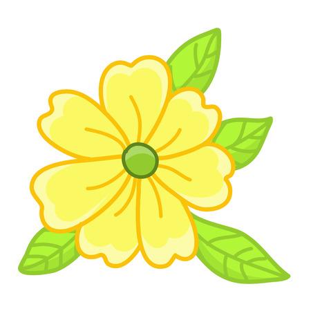 flor aislada: amarillo aislado ilustraci�n de flores sobre fondo blanco