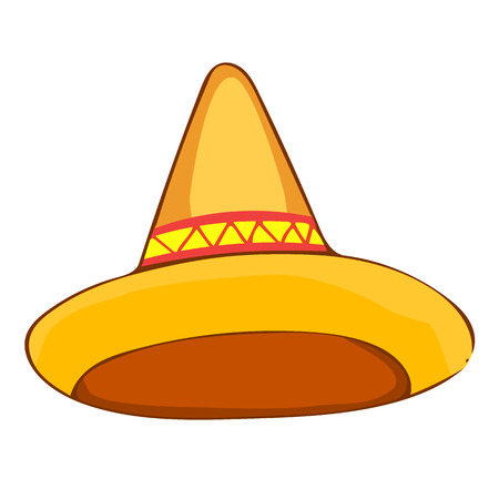 straw: sombrero straw hat isolated illustration on white background Illustration