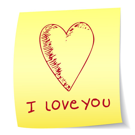 paper note: I love you paper note