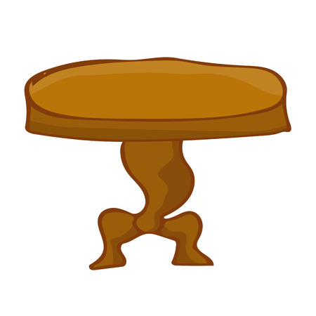 wooden leg: Wooden table isolated illustration on white background