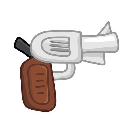 gun isolated illustration on white background Illustration
