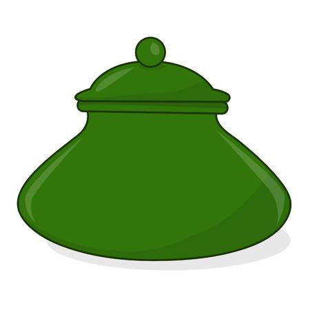pot isolated illustration on white background Vector
