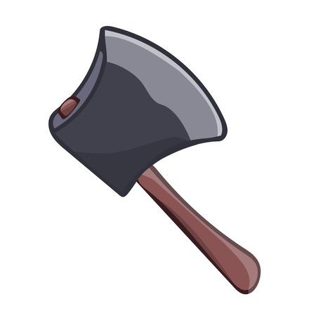 axe isolated illustration on white background