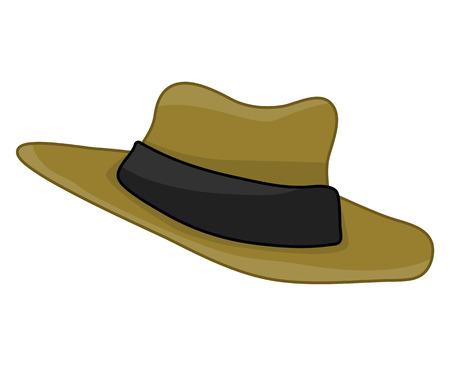 hat isolated illustration on white background Stock Illustratie