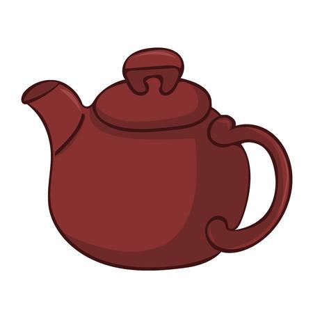 tea kettle: tea kettle isolated illustration on white background