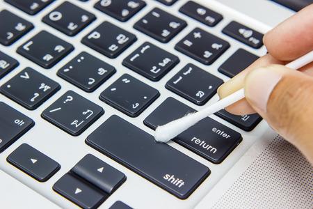 teclado de computadora: Teclado Limpieza y cuidado del ordenador