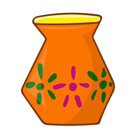 earthenware: vase isolated illustration on white background