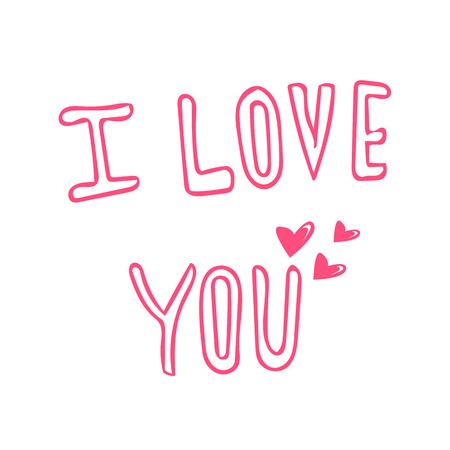 I love you hand lettering Çizim