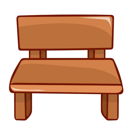 wooden bench: Wooden bench isolated illustration on white background Illustration