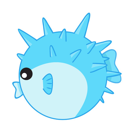 puffer: puffer fish isolated illustration on white background Illustration