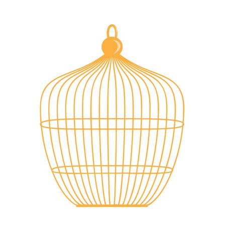 gloom: Birdcage isolated illustration on white background