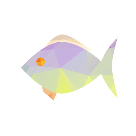 triangular eyes: fish with polygonal on white background