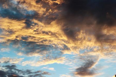 nimbus: sunset with color gradient nimbus clouds