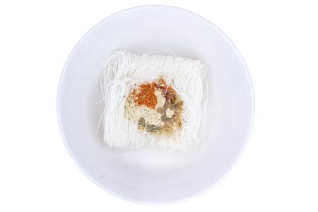 vermicelli: raw rice vermicelli Stock Photo