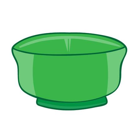 empty bowl: bowl isolated illustration on white background Illustration