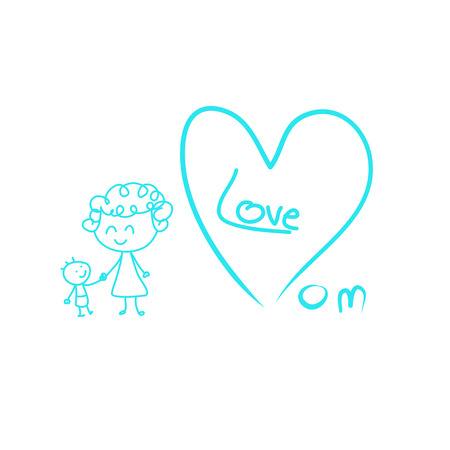 love mom: Amo a la mam� Vectores