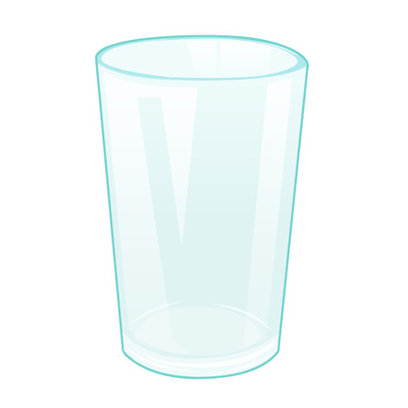Empty glass isolated illustration on white background Illustration