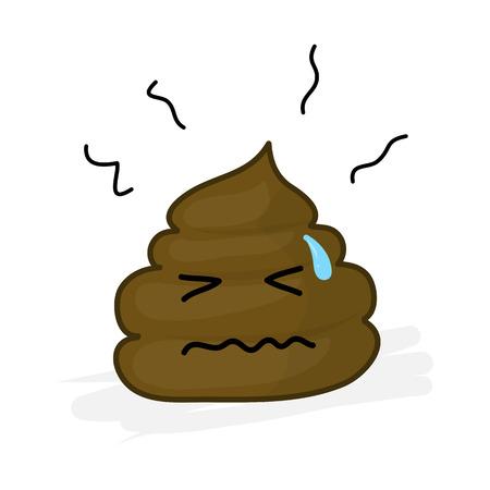 bathroom cartoon: cute Poop cartoon character isolated illustration on white background