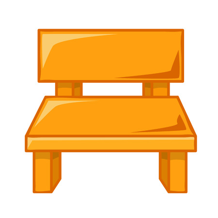 wood chair: wood Chair isolated illustration on white background Illustration