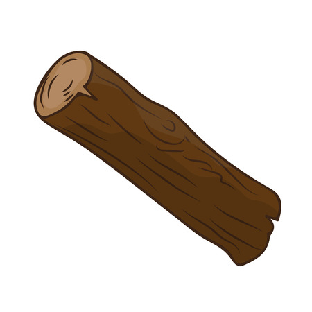 timber: timber isolated illustration on white background