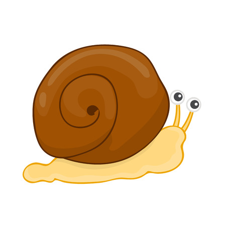 slow food: snail isolated illustration on white background