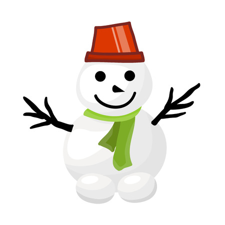 snowman isolated: snowman isolated illustration on white background Illustration