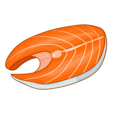 salmon fillet: Fish steak of tuna isolated illustration on white background