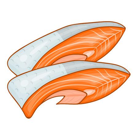 fish steak: Fish steak of tuna isolated illustration on white background