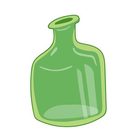 glass reflection: empty bottles isolated illustration on white background