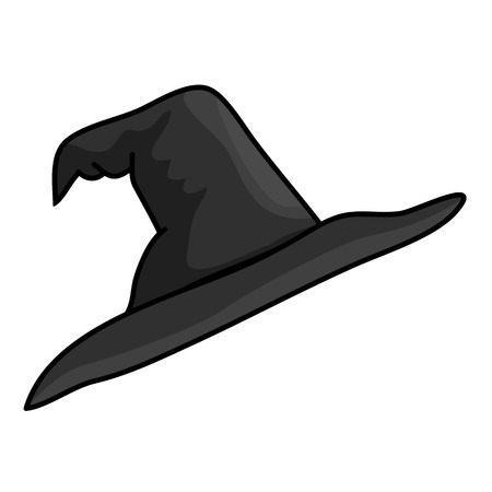pointy hat: Witch hat isolated illustration on white background Illustration