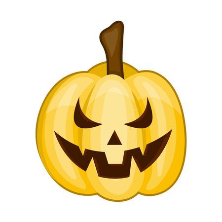 smilling: Halloween pumpkin Isolated illustration on white background