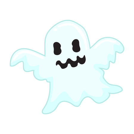 cute ghost: cute ghost isolated illustration on white backgroun Illustration