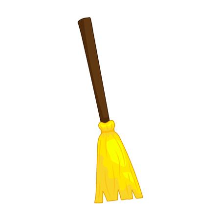 broom handle: broom isolated illustration on white background Illustration