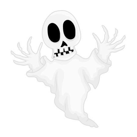 haunt: ghost isolated illustration on white background