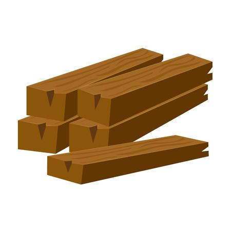 wood planks: wood planks isolated illustration on white background