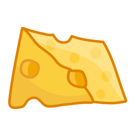 edibles: cheese isolated illustration on white background